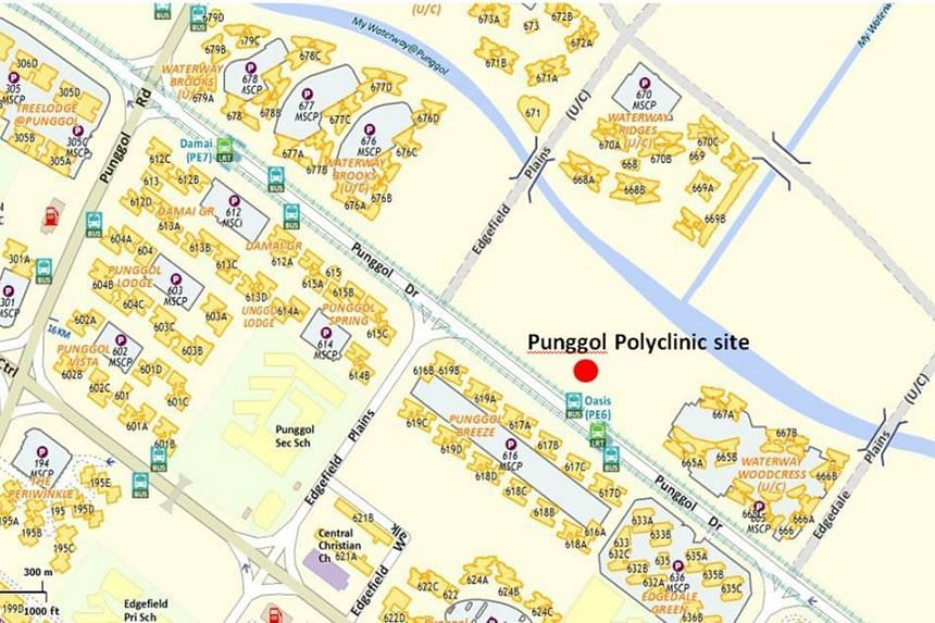 Located next to Oasis LRT station at 681, Punggol Drive, Punggol Polyclinic is connected to the LRT station via a sheltered link bridge.