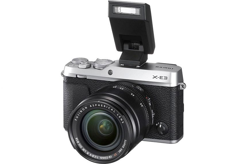 The Fujifilm X-E3 is the first X-series mirrorless camera to come with Bluetooth, allowing constant connection to a smartphone for quick transfer of images.