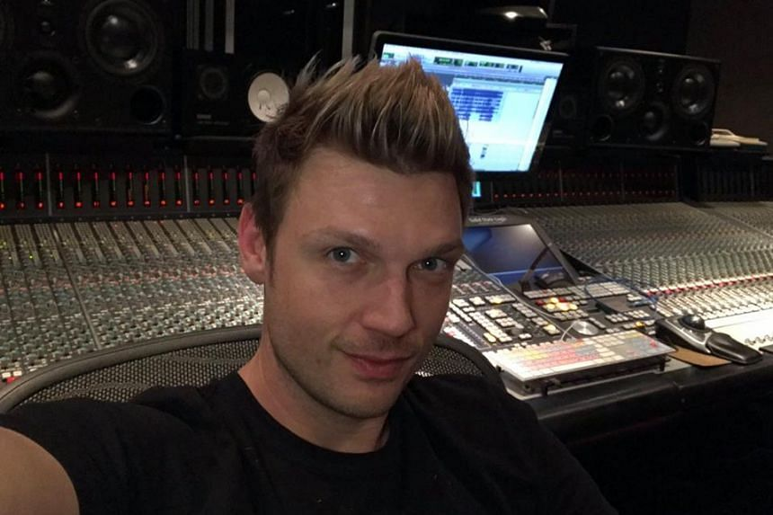 Backstreet Boys member Nick Carter in a photo from his Facebook page.