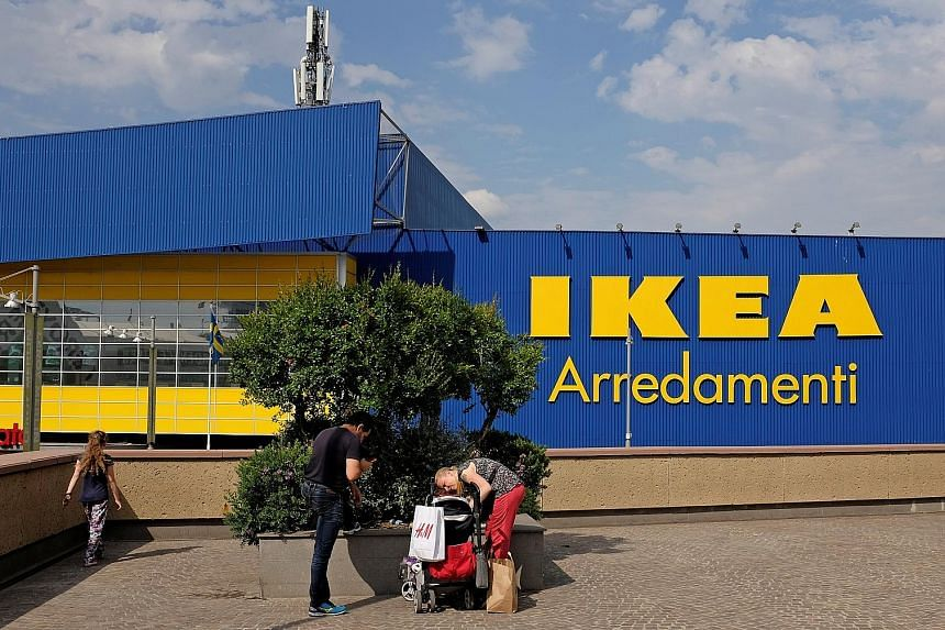An Ikea store in Rome, Italy. The firm had refunded or provided service to secure about a million of some 17 million pieces of furniture sold in the US and Canada that it said were at risk of tipping over, more than a year after its recall.