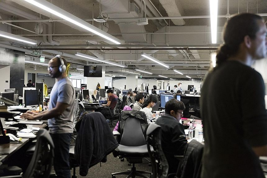 The Uber office in San Francisco. The company announced on Tuesday that it was the victim of a massive data hacking in October last year.