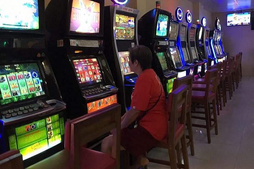 Jackpot machines at Gombak United Football Club's premises. Gombak United and Tanjong Pagar United are two of seven clubs that have been informed by the Ministry of Home Affairs to cease their jackpot operations by the end of next April.