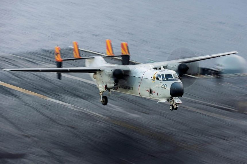 The propeller-powered transport plane, a C-2 Greyhound, was conducting a routine transport flight carrying passengers and cargo from Marine Corps Air Station Iwakuni to the USS Ronald Reagan.