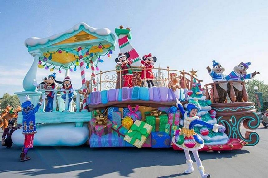 A female employee at Tokyo Disneyland suffered a nerve ailment after months of donning heavy character costumes.