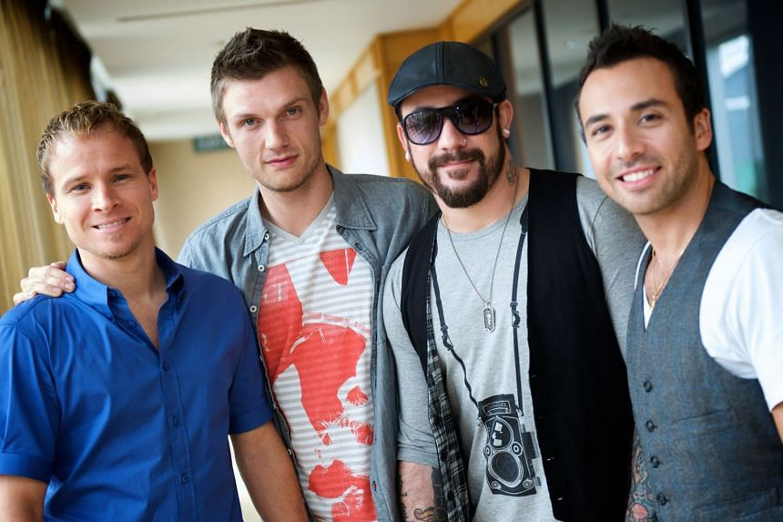 The Backstreet Boys in a file photo, with (from left) Brian Littrell, Nick Carter, AJ McLean and Howie Dorough.