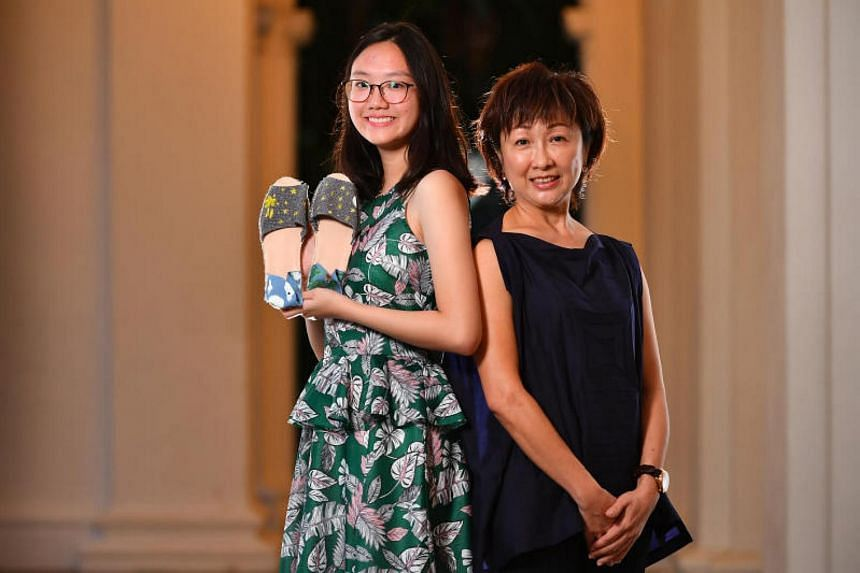 At the President's Challenge Appreciation Night held at the Istana on Thursday (Nov 23) were student Melissa Yuen, 18, and housewife Shirley Tan, 56.