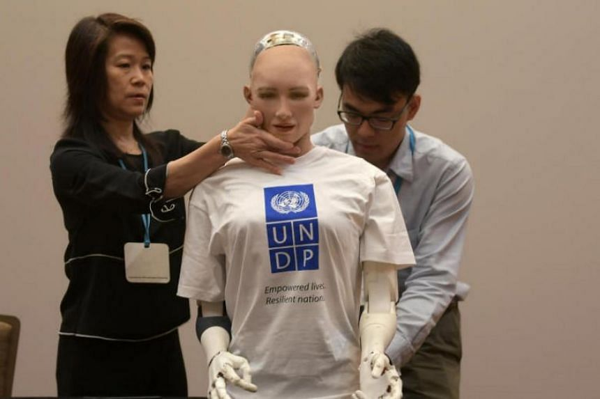 "Sophia is a Hanson Robotics creation which the United Nations Development Programme has appointed as its ""innovation champion'' for Asia and the Pacific."