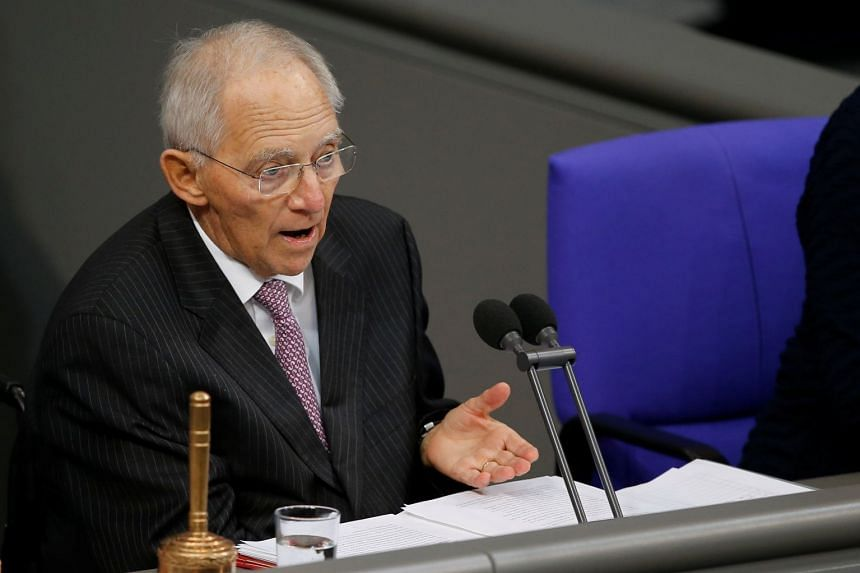 Wolfgang Schaeuble during a session of the Bundestag in Berlin, Germany, Nov 21, 2017.