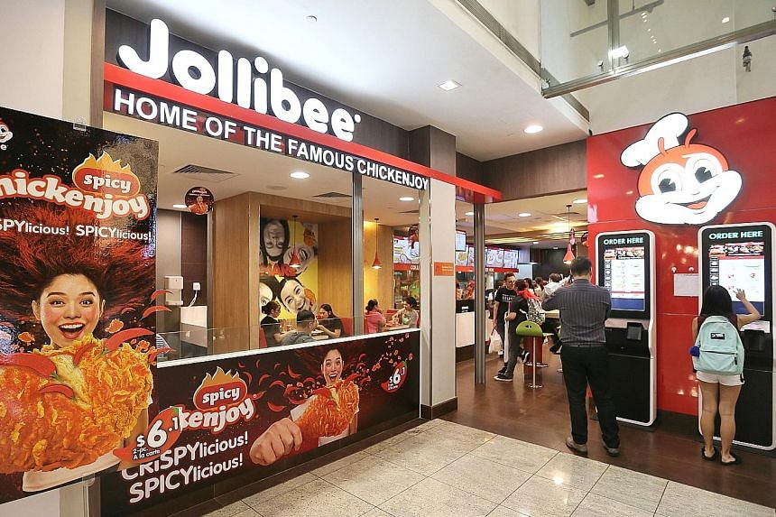Jollibee's outlet at Square 2 in Sinaran Drive. The Manila-based company will open its sixth store in Singapore in Jurong East in April next year, and plans to open more outlets in the next five years.