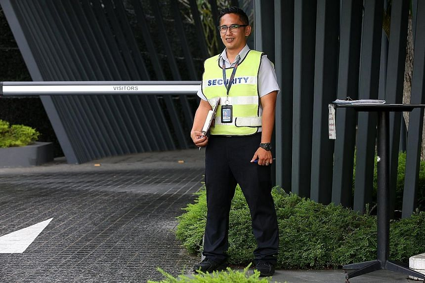 The planned pay increases and cut in overtime hours will benefit workers like senior security officer Mohamed Alfie Idris, who now works 12-hour shifts six days a week.