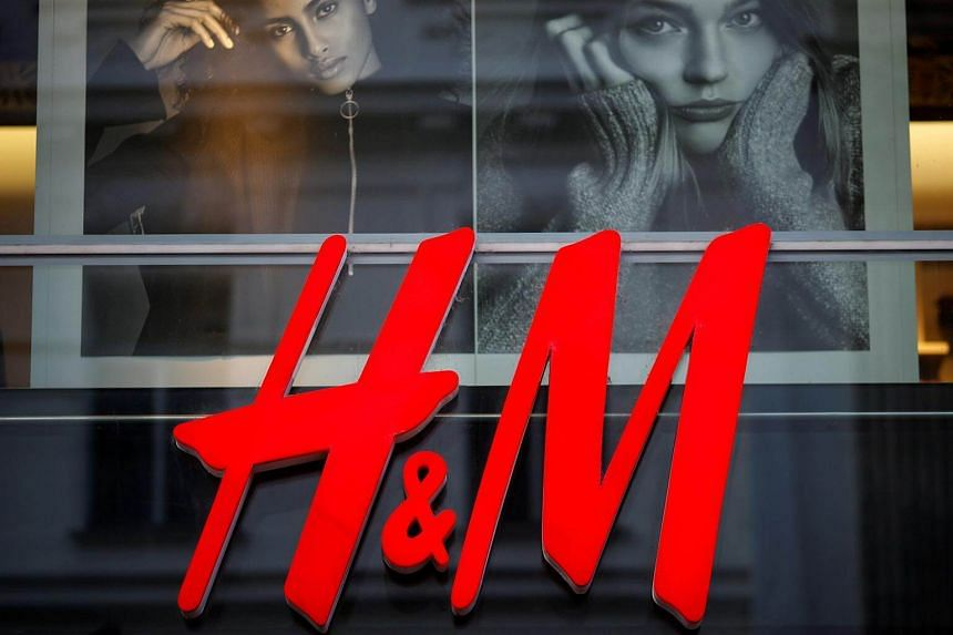 A file photo of the logo of Swedish fashion label H&M is seen outside a store in Vienna, Austria.