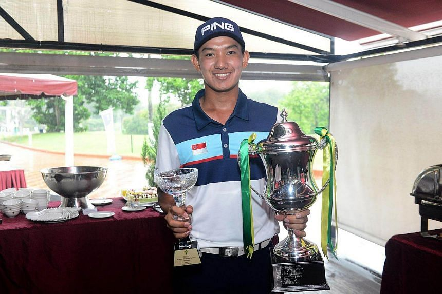 Marc Ong (above), who turns professional in January, gave himself a big boost by winning the Warren-MST Amateur Open in fitting style yesterday.