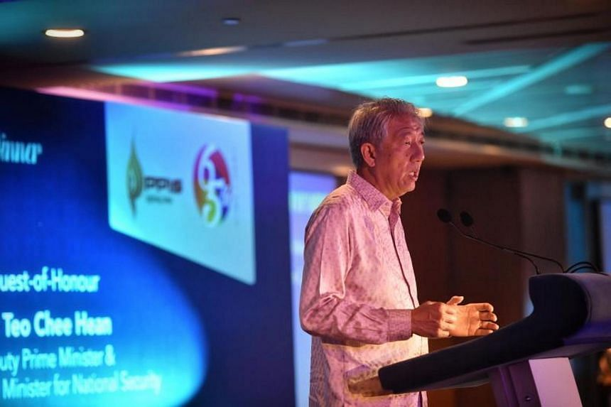 Deputy Prime Minister Teo Chee Hean speaking at the Singapore Muslim Women's Association's 65th anniversary gala dinner on Nov 24, 2017.