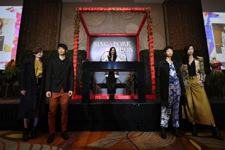 Chelsea Scott-Blackhall, of four-year-old streetwear label Dzojchen, winner of the Designer of the Year Award (Fashion).