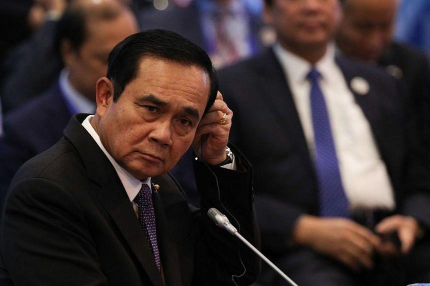 Thai PM Prayuth Chan-o-cha at the Asean summit in Manila on Nov 13, 2017.