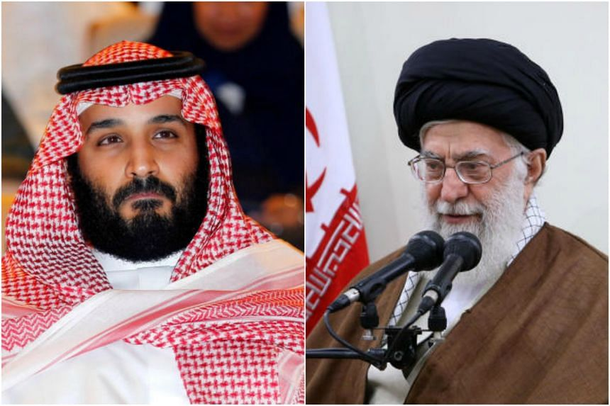 "Saudi Crown Prince Mohammed bin Salman (left) told The New York Times that Iran's supreme leader Ayatollah Ali Khamenei (right) is ""the new Hitler of the Middle East""."