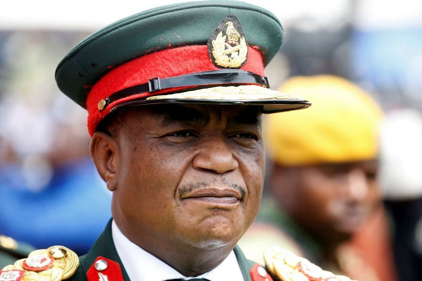 Army chief General Constantino Chiwenga arrives to attend the inauguration ceremony to swear in Zimbabwe's former vice-president Emmerson Mnangagwa as president in Harare on Nov 24, 2017.