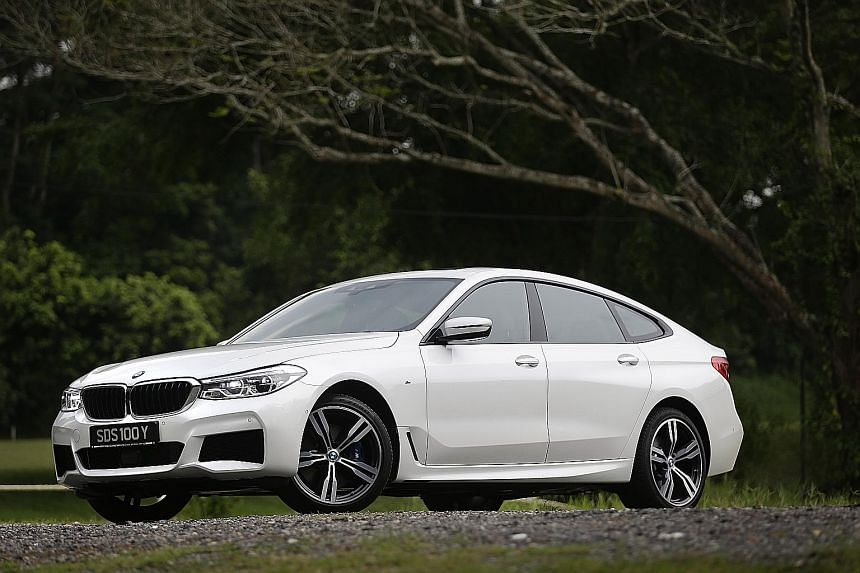 The BMW 640i Gran Turismo sits on a well-sorted chassis with wide tracks, self-levelling air suspension and intelligent all-wheel-drive.