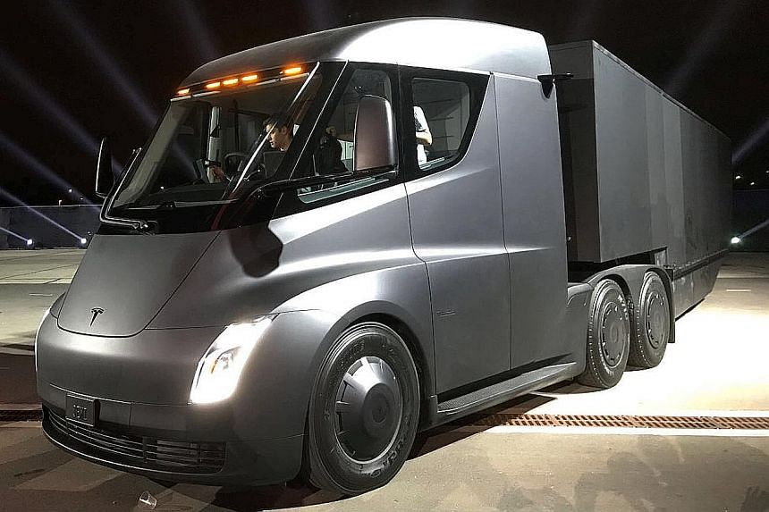 Tesla's new electric truck was unveiled last week.