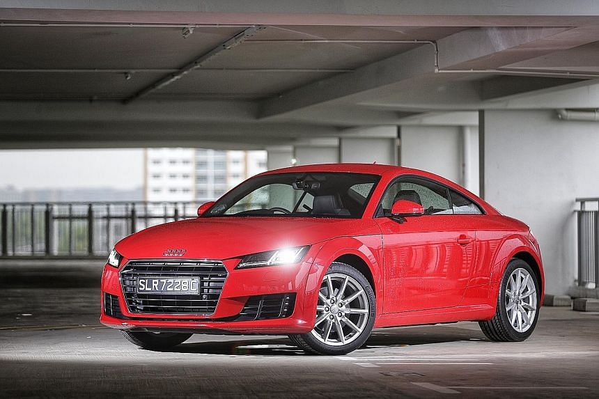 The Audi TT has a sporty appearance and is an engaging drive.