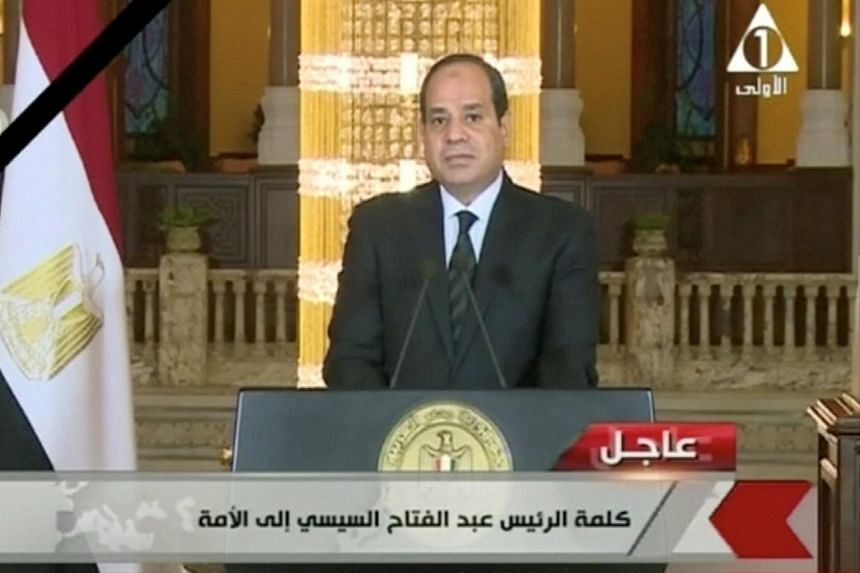 Egypt president vows forceful response after mosque massacre