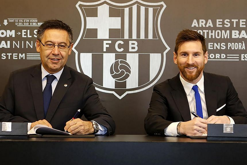 FC Barcelona and Lionel Messi signed a new contract that will keep the Argentinian superstar at the club through the 2020/21 season.