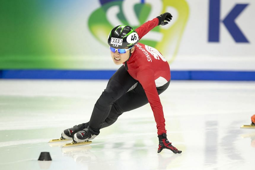 Cheyenne Goh competing in the Seoul leg of the ISU World Cup short track series last weekend when she ended 51st to clinch her ticket. But it was her 20th place in Shanghai that did the trick.