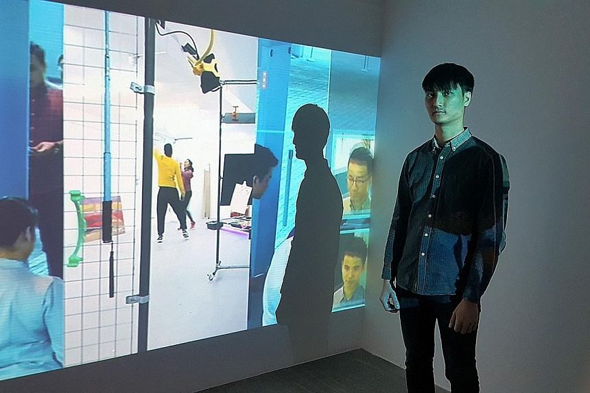Artists Ong Kian Peng (left) and Teow Yue Han are among the Singaporeans whose works are on show at the Total Museum of Contemporary Art in Seoul as part of the Seoul/Singapore Open Media Art Festival. The festival was first launched in Singapore in