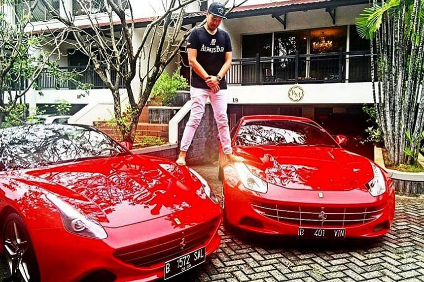 Ms Isabelle Duterte with her $4,200 Celine bag, in one of many posts showing her with her expensive, designer accessories. Mr Richard Muljadi, a grandson of Indonesian entrepreneur Kartini Muljadi, astride his two red Ferraris. Ms Chryseis Tan, daugh