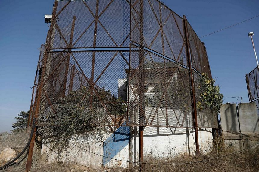 An Israeli army post, protected by an anti-missile fence, next to the northern Israeli town of Metula on the border with Lebanon pictured on Nov 16, 2017.