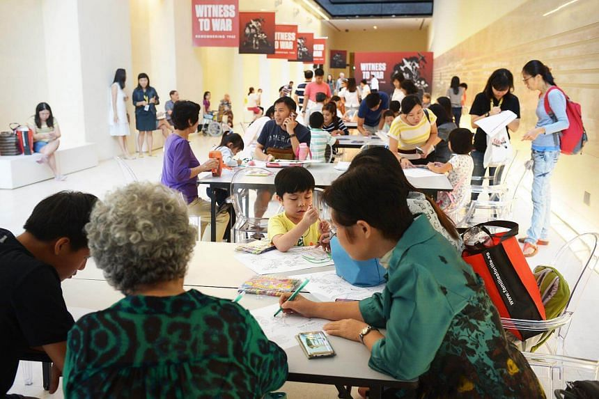 Extended families spending time together doing family-friendly activities at the National Museum in celebration of Grandparents' Day, on Nov 25, 2017.