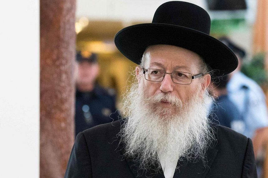 Health Minister Yaakov Litzman (above) informed Prime Minister Benjamin Netanyahu of his intention to resign if any kind of work is carried out on the Sabbath, the Jewish day of rest.