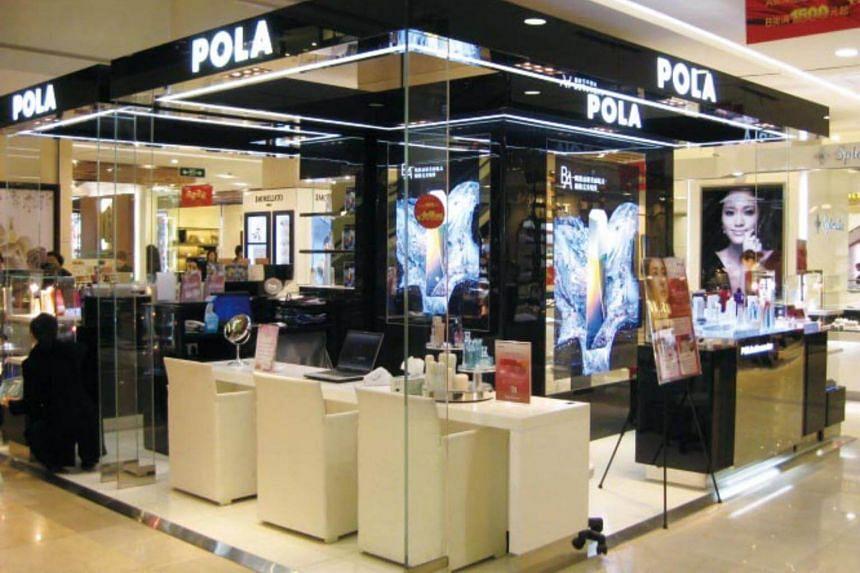 A Pola display shop in China.