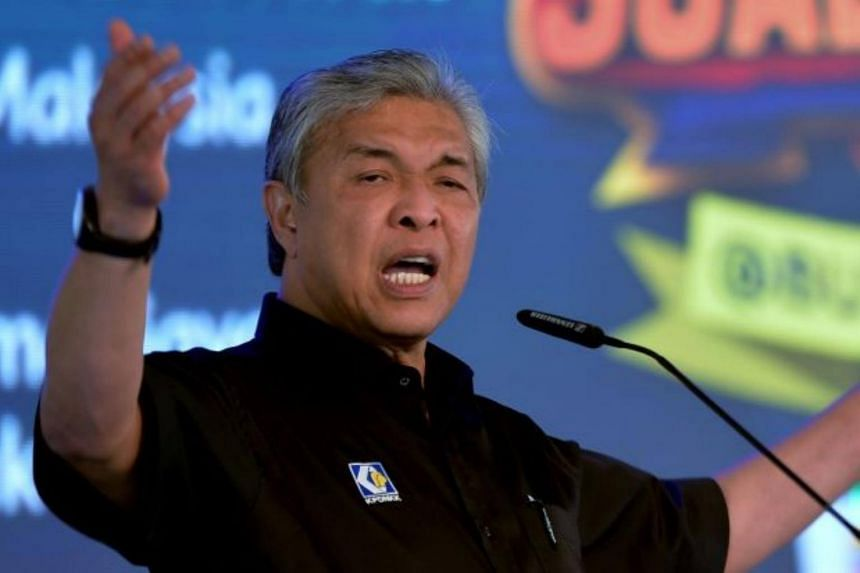 """Malaysia's Deputy Prime Minister Ahmad Zahid Hamidi said the next general election """"will likely be held within days after the Chinese New Year""""."""