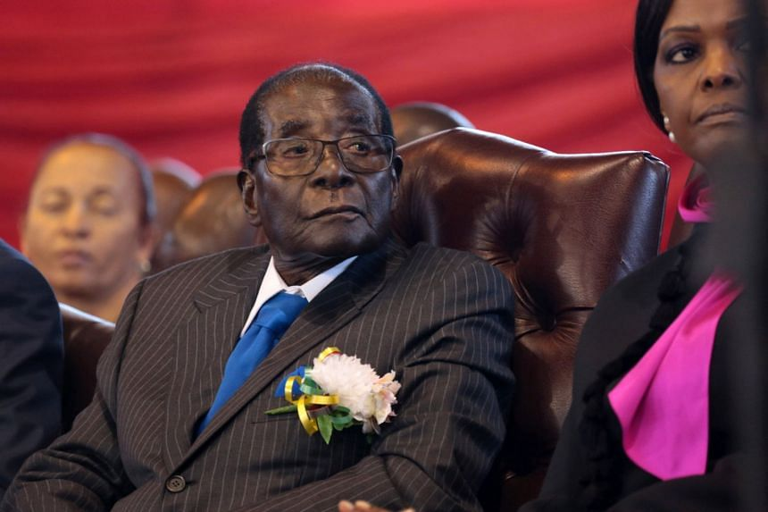Former Zimbabwe president Robert Mugabe (pictured) reportedly cried when he resigned under pressure last week.
