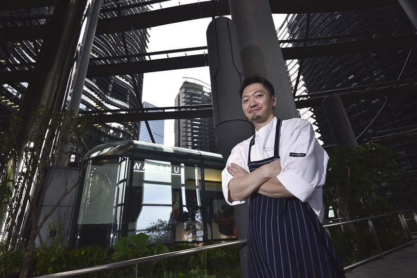 Ryohei Kenyoshi is the chef of Wakanui Grill Dining at Marina One.
