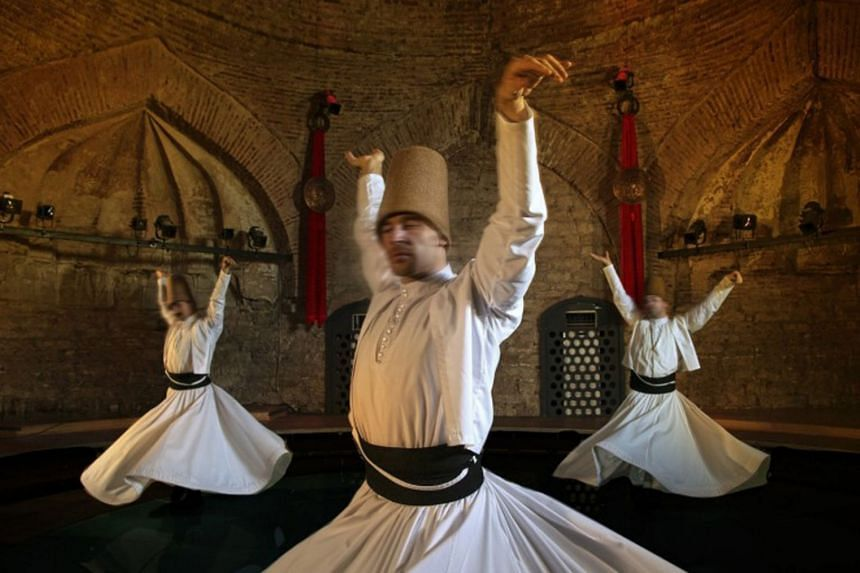 Whirling Dervishes spin in circles – a spiritual dance which represents the abandoning of ego and the ascent towards enlightenment.