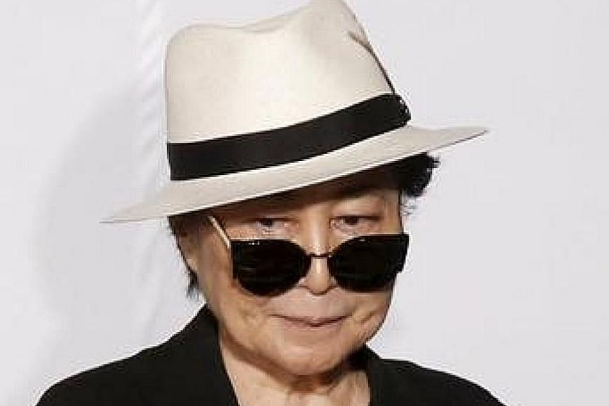 Yoko Ono has identified the items, including diaries (above) and eyeglasses (left), as having been taken from her home.