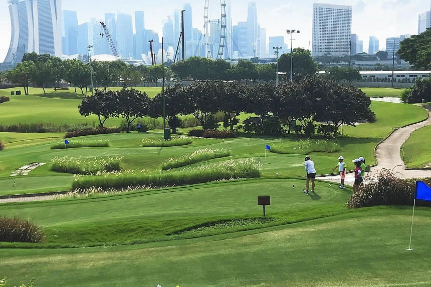 The Marina Bay Golf Course is opening the par-24, six-hole Marina Bay Putting Course to the public today to widen the game's appeal.