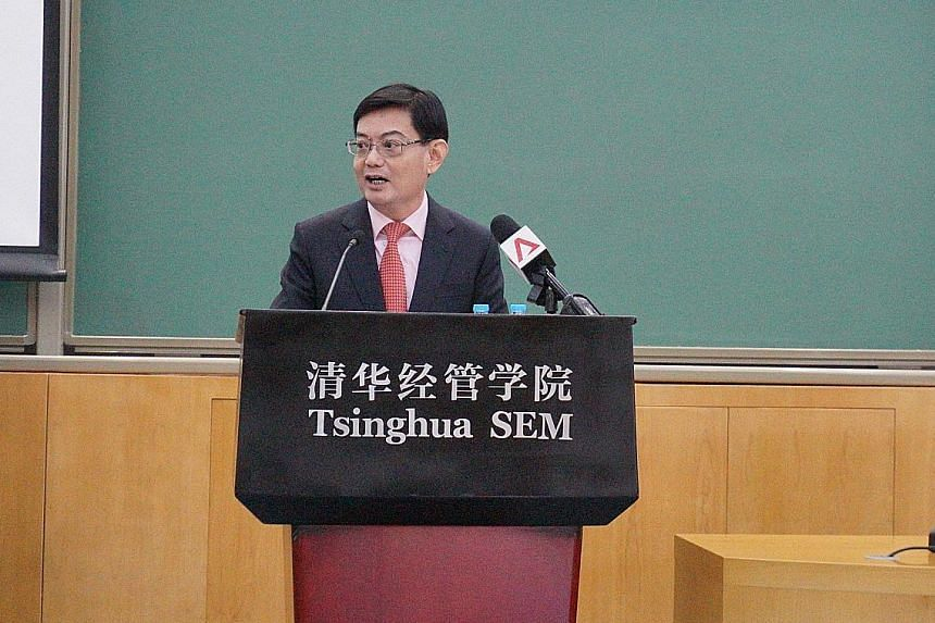 During his five-day trip to China, Finance Minister Heng Swee Keat visited Tsinghua University Science Park and saw its built-in ecosystem for turning ideas into commercial products.