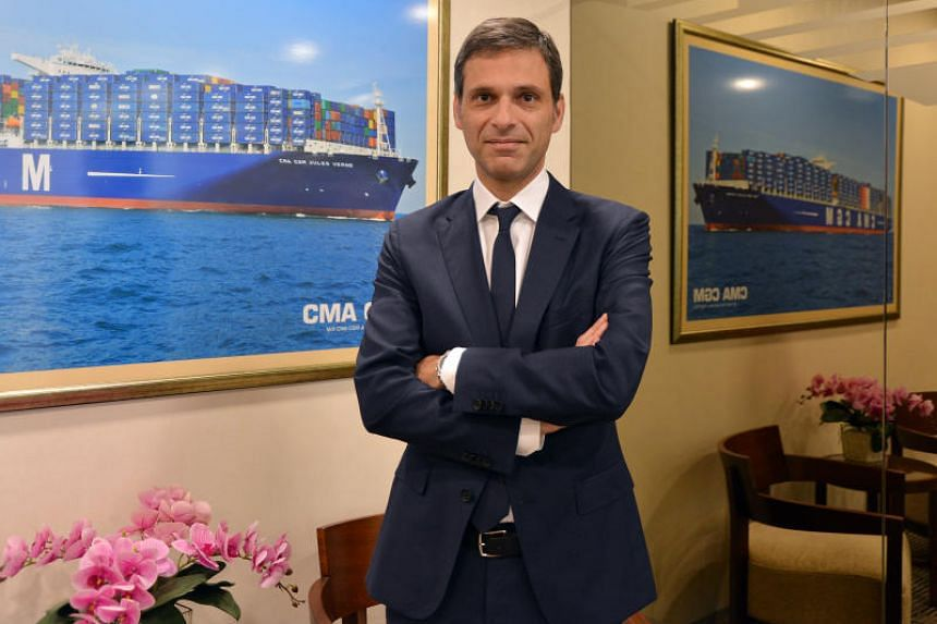 Rodolphe Saade, CEO and now also chairman of French shipping firm CMA CGM.