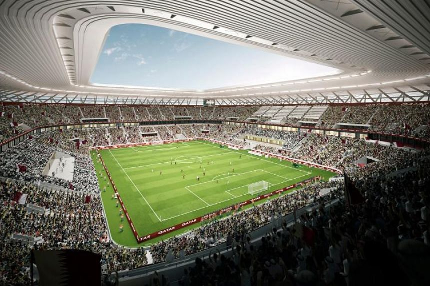 The 40,000-seater Ras Abu Aboud Stadium in a computer generated image made available on Nov 26, 2017 by Qatar World Cup's Supreme Committee for Delivery and Legacy, responsible for organising the global football tournament.