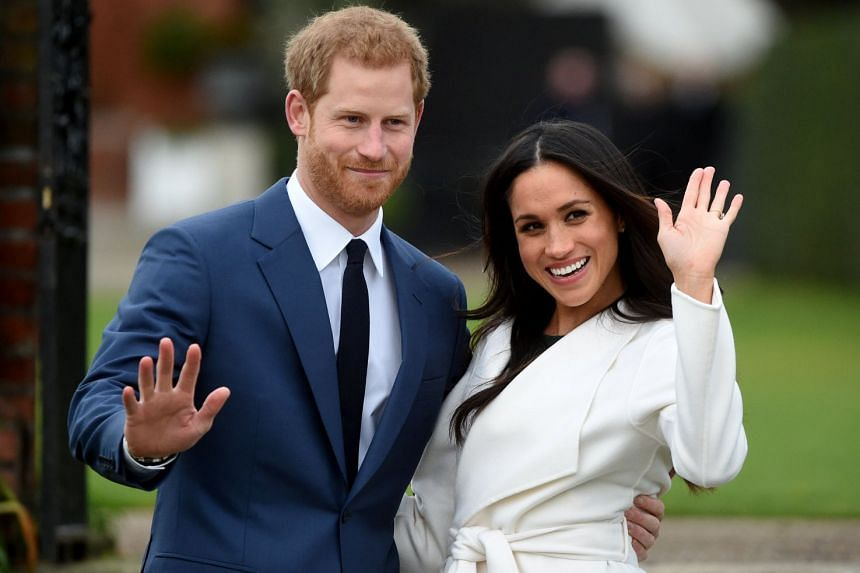 After the announcement of their engagement, Britain's Prince Harry and US actress Meghan Markle made their first official appearance as an engaged couple in the Sunken Garden of Kensington Palace.