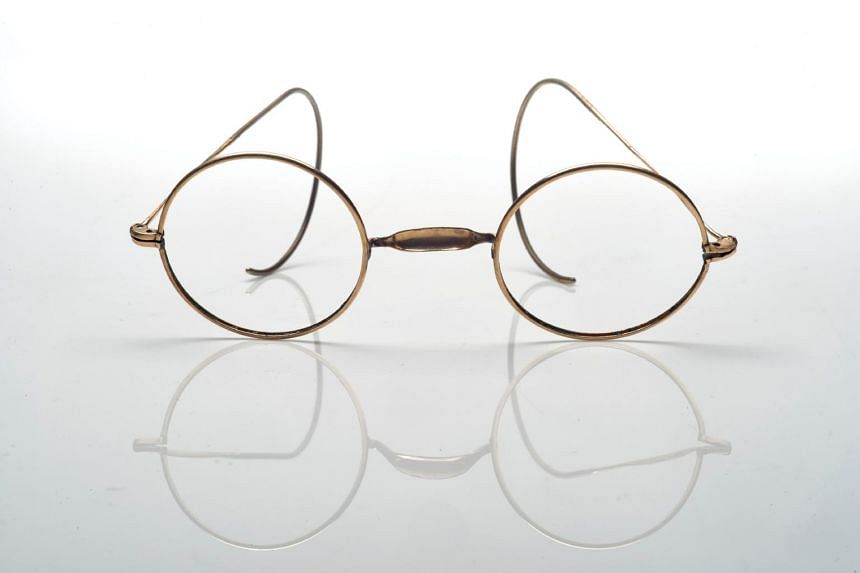 The dainty glasses, made from gold-coloured metal, went to an unnamed Asian buyer on Sunday for US$51,457, far exceeding the auction house's estimate of US$1,000 to US$1,500.