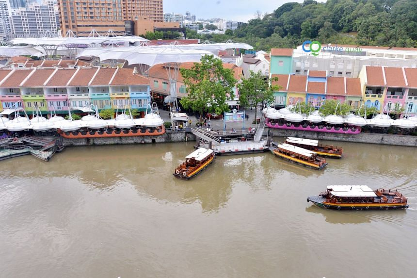 PUB said the litter in the vicinity of the Singapore River can be washed into the drains by rain and find its way into the river.
