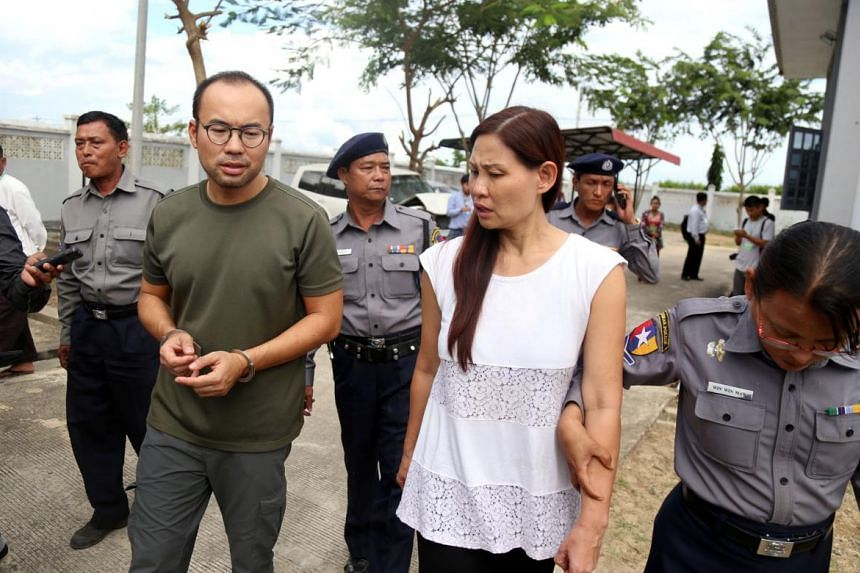 Singaporean cameraman Lau Hon Meng and Malaysian documentary producer Mok Choy Lin were sentenced to two months' jail each on Nov 10 for breaching Myanmar's Aircraft Act.