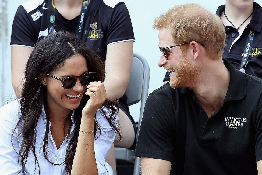Britain's Prince Harry and American actress Meghan Markle (both above) at the Invictus Games in Toronto, Canada, in September.