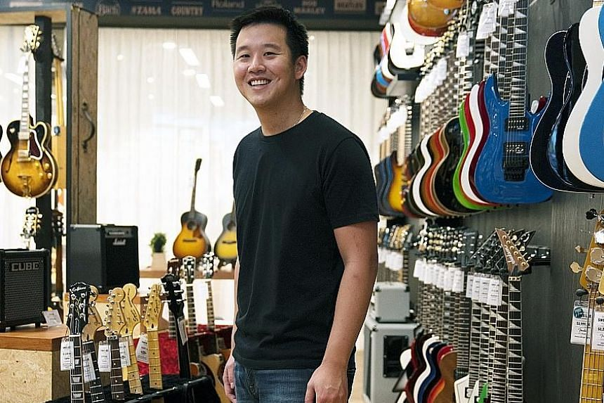 Mr Kuok Meng Ru, 29, at the new flagship store of music retailer Swee Lee at The Star Vista.