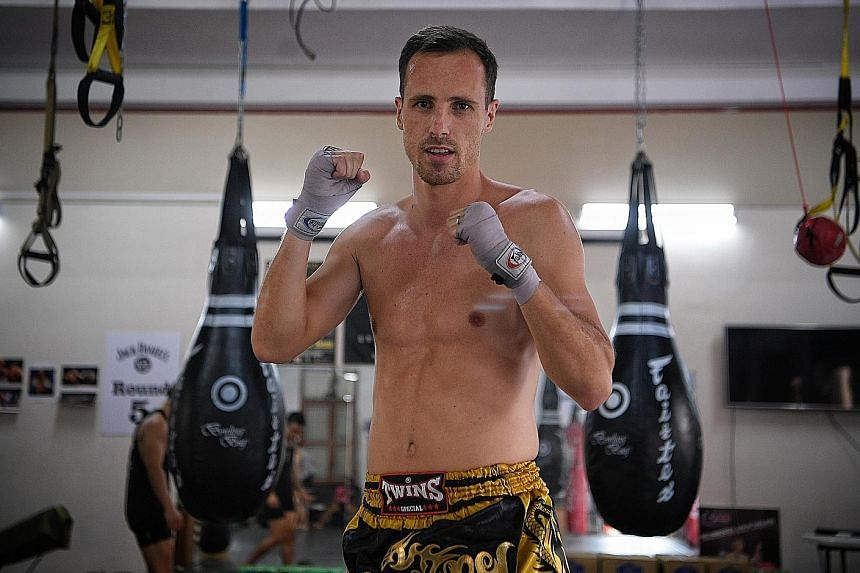 Frenchman Alexandre Pini, founder and chef of Braseiro Restaurant in Joo Chiat Road, is also a professional fighter at Fight ProMotion gym. He first picked up muay thai in Lille, France, where he is from.