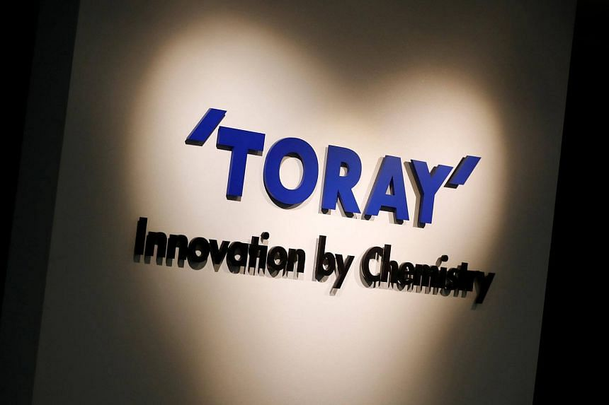 Toray Industries' logo pictured at its headquarters in Tokyo, Japan.